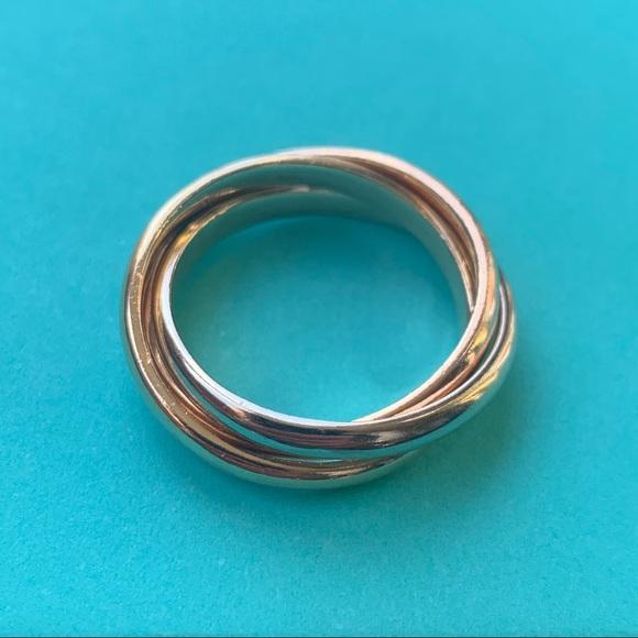 Tiffany Co Accessories Tiffany Co Mens Rolling Tricolor Gold Ring 75 Poshmark